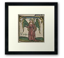 Virgo 16th Century Woodcut Framed Print
