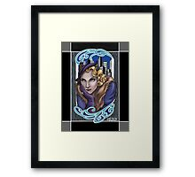 Old Hollywood Catwoman Framed Print