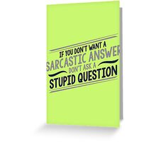 answer Greeting Card
