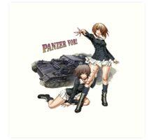 Panzer Vor! - Yukari and Miho Art Print