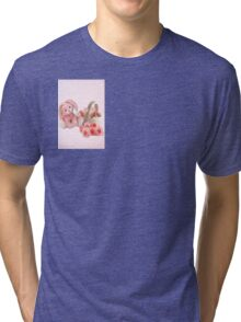 A pink Easter Card Tri-blend T-Shirt