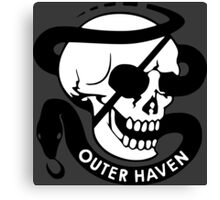 MGS - Outer Haven Skull Canvas Print