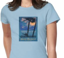Santa Barbara - California.  Womens Fitted T-Shirt
