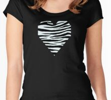0028 Azure Mist or Azure (WWW) Tiger Women's Fitted Scoop T-Shirt
