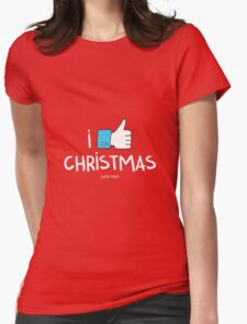 i like Christmas (with you) Womens Fitted T-Shirt