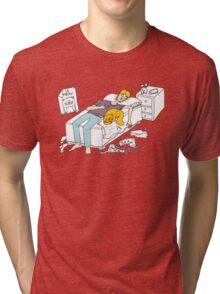 Why should I make my bed again Tri-blend T-Shirt