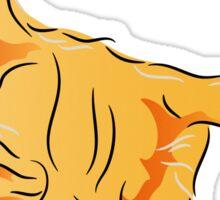 Orange Tabby Kitten Graphic Sticker