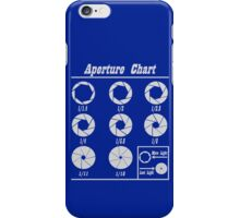 Aperture Chart iPhone Case/Skin