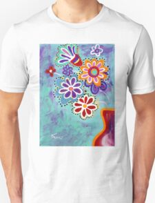 Happy Flowers - Art by Valentina Miletic Unisex T-Shirt