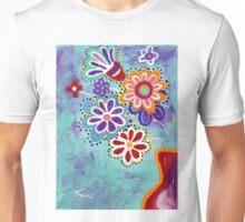 Happy Flowers - Art by Valentina Miletic Unisex T-Shirt