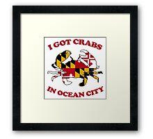 Ocean City Crabs Framed Print