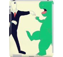 Slenderman vs. Dinosaur iPad Case/Skin