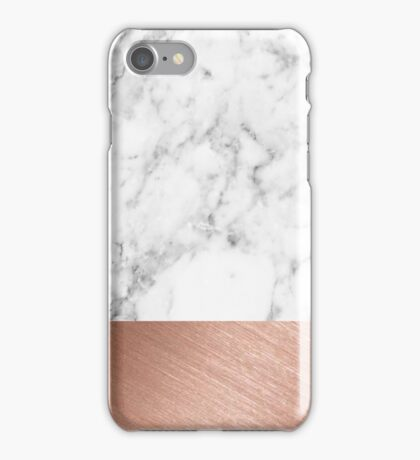 Rose Gold Marble iPhone Case/Skin