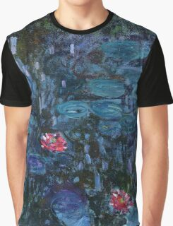 Nymphéas reflets de saule 1916-19 Monet Fine Art Graphic T-Shirt