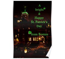 Bright & Happy St. Patrick's Day from Boston Poster
