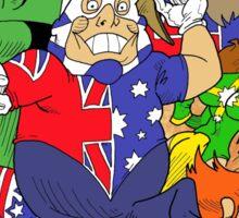 Down-Underian issue 1 comic cover. Sticker