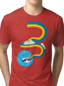 I SPEAK rainbows! cute kawaii character sending out a rainbow Tri-blend T-Shirt