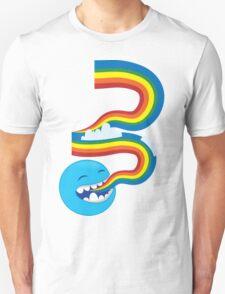 I SPEAK rainbows! cute kawaii character sending out a rainbow Unisex T-Shirt