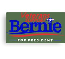 Veterans Support Bernie For President Canvas Print