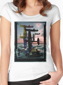 Ocean Planes Women's Fitted Scoop T-Shirt