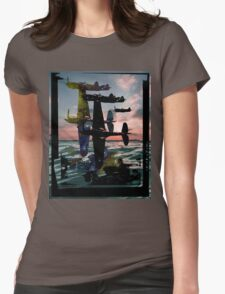 Ocean Planes Womens Fitted T-Shirt