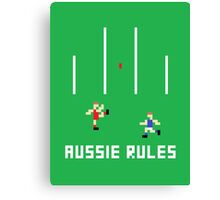 Aussie Rules Pixel Canvas Print