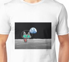 Cat On The Moon Unisex T-Shirt