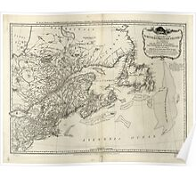 American Revolutionary War Era Maps 1750-1786 045 A general map of the middle British colonies in America 15 Poster