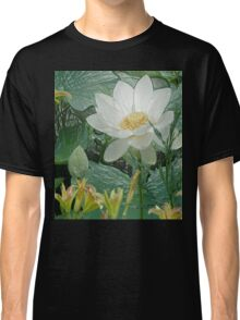 White Lotus in Lake - Tee for Flower Lovers, Phone cases Classic T-Shirt