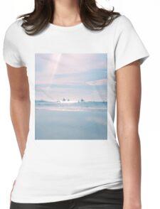 White Beach - Boracay Island Womens Fitted T-Shirt