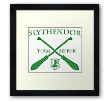 Slythendor Team Seeker in Green Framed Print