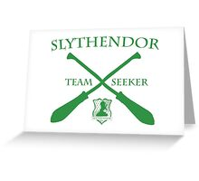 Slythendor Team Seeker in Green Greeting Card
