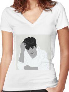 James Reid Women's Fitted V-Neck T-Shirt