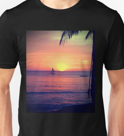 Sunset on White Beach - Boracay Island Unisex T-Shirt