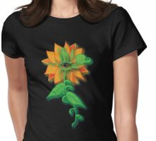 Amber-Eyed Flower Womens Fitted T-Shirt