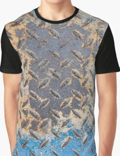 Colorful Rusty Metal Texture Graphic T-Shirt