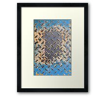 Colorful Rusty Metal Texture Framed Print