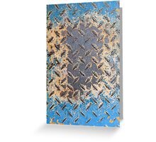 Colorful Rusty Metal Texture Greeting Card