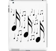 Musical notes on white background iPad Case/Skin