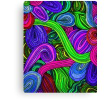 Psychedelic Lines (Green) Canvas Print
