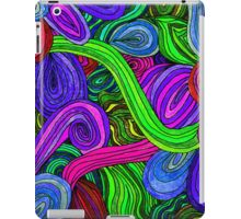 Psychedelic Lines (Green) iPad Case/Skin