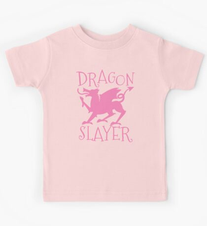 Dragon Slayer in pink Kids Tee