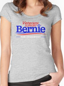 Veterans Support Bernie For President Women's Fitted Scoop T-Shirt