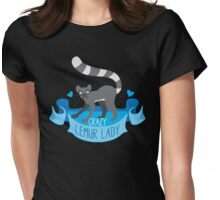 Crazy Lemur Lady Banner Womens Fitted T-Shirt