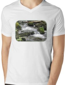 Letting Mother Nature Have Her Way Mens V-Neck T-Shirt