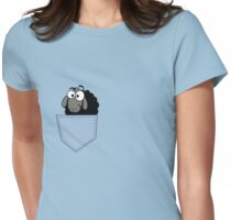 Smiling Cartoon Sheep In My Pocket - Funny & Odd T-Shirt Tote Bag Womens Fitted T-Shirt