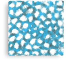 Splattered blue  Canvas Print