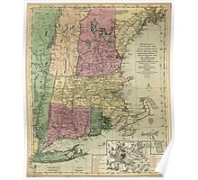 American Revolutionary War Era Maps 1750-1786 346 Bowles's new pocket map of the most inhabited part of New England comprehending the provinces of Poster