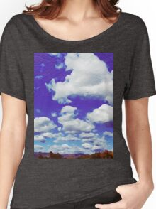 Painted Cloudscape Women's Relaxed Fit T-Shirt
