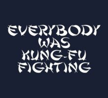 Everybody Was Kung-Fu Fighting T-Shirt Sticker Kids Tee